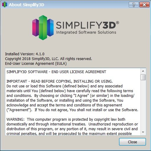 Simplify3D 4.1.0 full license