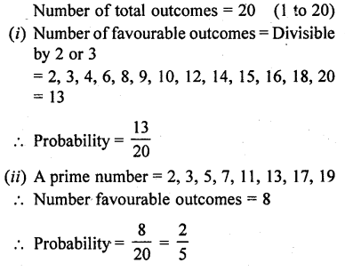 RD Sharma Class 10 Pdf Free Download Full Book Chapter 13 Probability