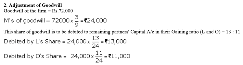 TS Grewal Accountancy Class 12 Solutions Chapter 5 Retirement Death of a Partner Q17.1