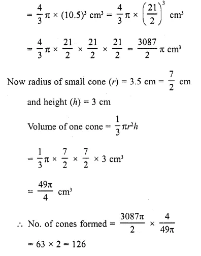 RD Sharma Class 10 Solutions Chapter 14 Surface Areas and Volumes  RV 23