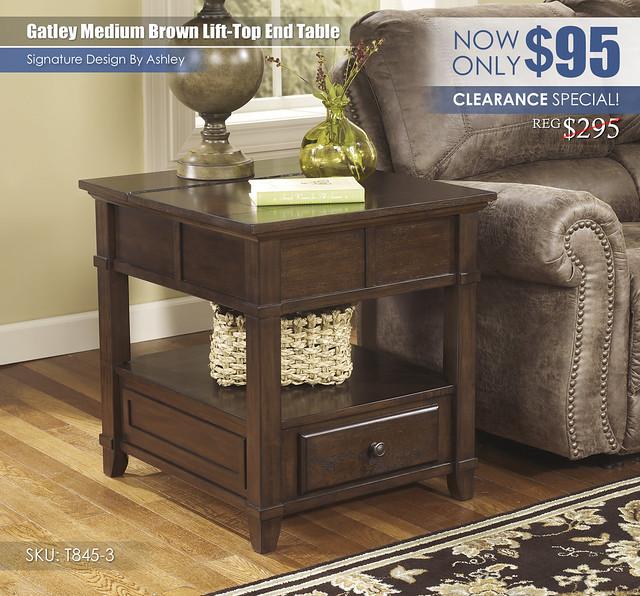 Gatley Medium Brown Lift Top End Table_T845-3-SD