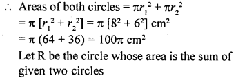 RD Sharma Class 10 Solutions Chapter 13 Areas Related to Circles Ex 13.1 10