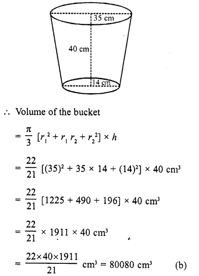 RD Sharma Class 10 Solutions Chapter 14 Surface Areas and Volumes MCQS 9