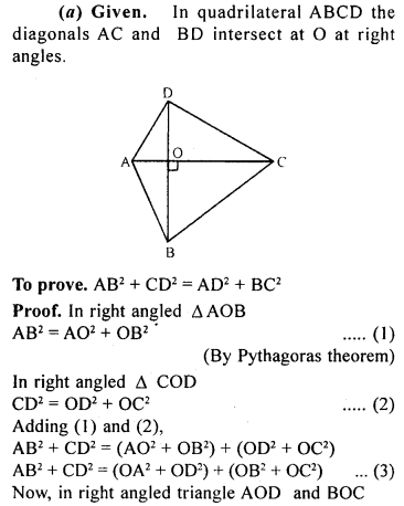 ML Aggarwal Class 9 Solutions for ICSE Maths Chapter 12 Pythagoras Theorem     23a