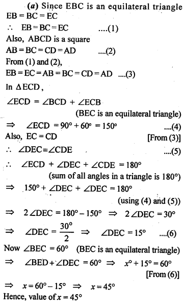 ML Aggarwal Class 9 Solutions for ICSE Maths Chapter 13 Rectilinear Figures  ex 7a