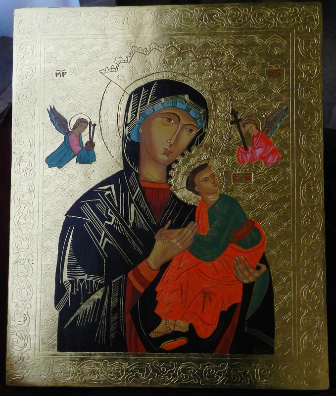 Museo Catedralicio Icono Virgen y el Niño pintura Catedral de Santa Maria de la Asuncion Coria Caceres 04
