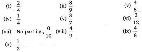NCERT Solutions for Class 6 Maths Chapter 7 Fractions 2