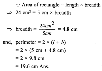 Selina Concise Mathematicsclass 6 ICSE Solutions -Perimeter and Area of Plane Figures-b8