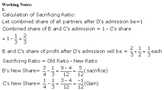 TS Grewal Accountancy Class 12 Solutions Chapter 4 Admission of a Partner Q23.1