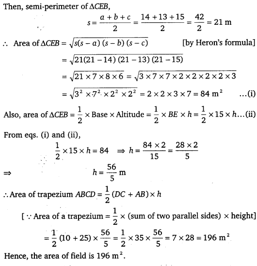 NCERT Solutions for Class 9 Maths Chapter 12 Heron's Formula 27