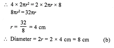 RD Sharma Class 10 Solutions Chapter 14 Surface Areas and Volumes MCQS 40