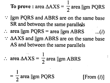ML Aggarwal Class 9 Solutions for ICSE Maths Chapter 14 Theorems on Area     6b