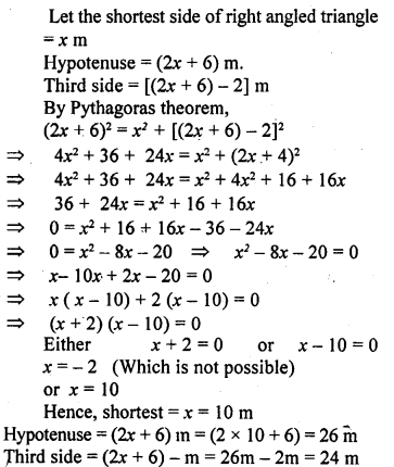 ML Aggarwal Class 9 Solutions for ICSE Maths Chapter 12 Pythagoras Theorem     8