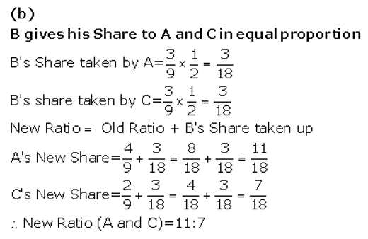 TS Grewal Accountancy Class 12 Solutions Chapter 5 Retirement Death of a Partner Q16.1