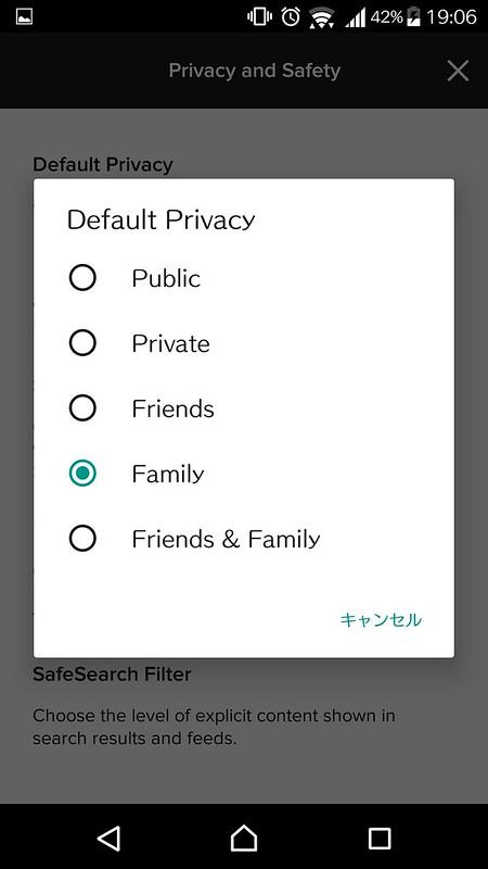 Flickrの使い方 : 「Public」は避けてください。