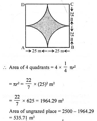 RD Sharma Class 10 Solutions Chapter 13 Areas Related to Circles Ex 13.4 - 6a