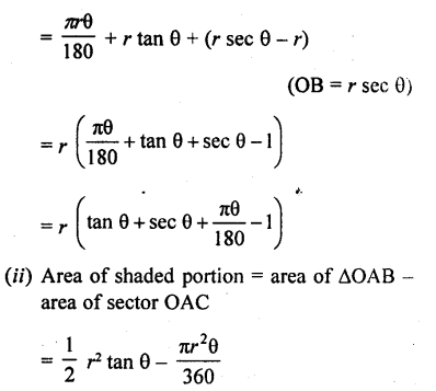 RD Sharma Class 10 Solutions Chapter 13 Areas Related to Circles Ex 13.2 - 26aa