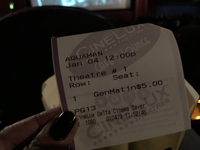 First movie of 2019 - Aquaman