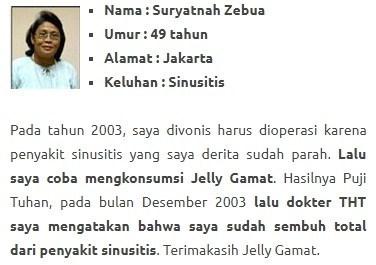 testimoni qnc jelly gamat atasi sinusitis