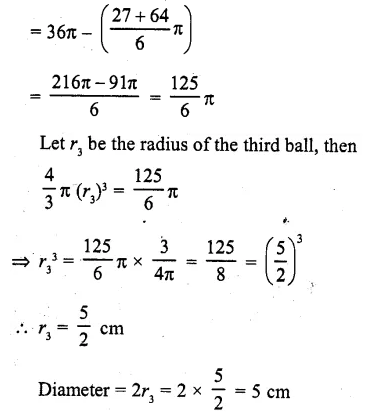 RD Sharma Class 10 Solutions Chapter 14 Surface Areas and Volumes Ex 14.1 3a