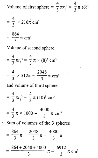 RD Sharma Class 10 Solutions Chapter 14 Surface Areas and Volumes MCQS 21