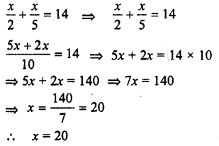 Selina Concise Mathematics class 7 ICSE Solutions - Simple Linear Equations (Including Word Problems) -c4..