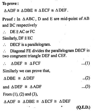ML Aggarwal Class 9 Solutions for ICSE Maths Chapter 11 Mid Point Theorem    2a