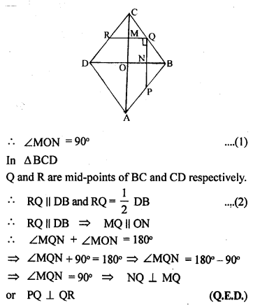 ML Aggarwal Class 9 Solutions for ICSE Maths Chapter 11 Mid Point Theorem    ct 1a