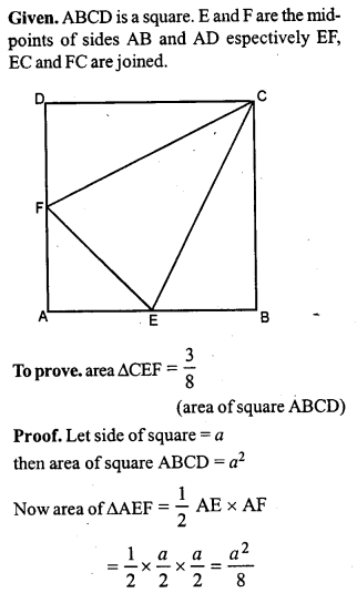 ML Aggarwal Class 9 Solutions for ICSE Maths Chapter 14 Theorems on Area    pq3