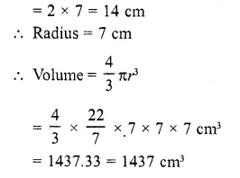RD Sharma Class 10 Solutions Chapter 14 Surface Areas and Volumes  RV 45a