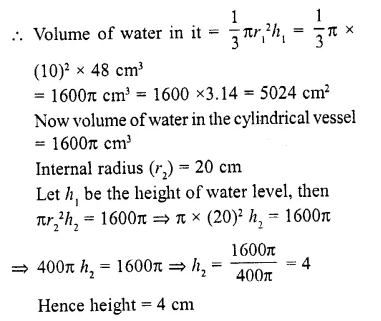 RD Sharma Class 10 Solutions Chapter 14 Surface Areas and Volumes  RV 11