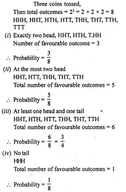 RD Sharma Class 10 Solutions Chapter 16 Probability Ex 16.1 3