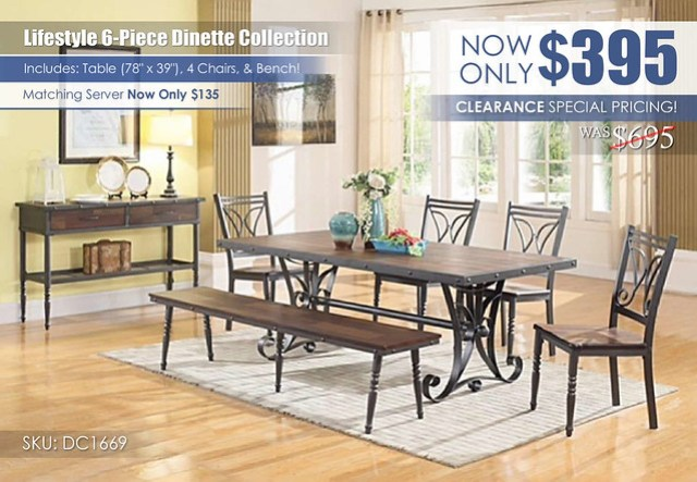 Lifestyle 6 PC Dinette Set Clearance_DC1669_update