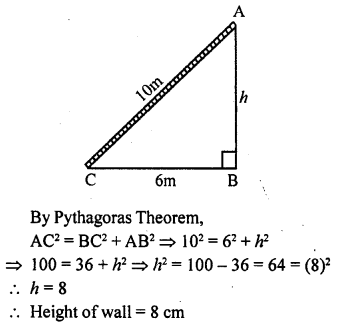 ML Aggarwal Class 9 Solutions for ICSE Maths Chapter 12 Pythagoras Theorem     2a