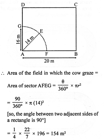 RD Sharma Class 10 Solutions Chapter 13 Areas Related to Circles Ex 13.4 - 7