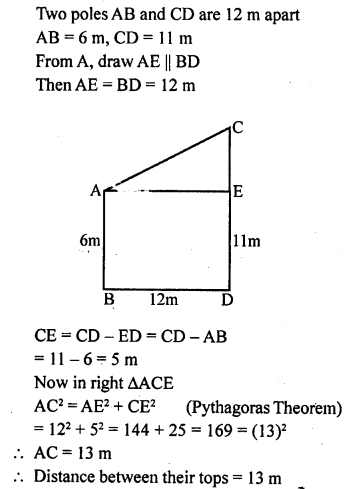ML Aggarwal Class 9 Solutions for ICSE Maths Chapter 12 Pythagoras Theorem     4