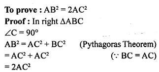 ML Aggarwal Class 9 Solutions for ICSE Maths Chapter 12 Pythagoras Theorem     9a