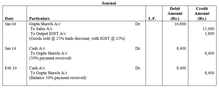 TS Grewal Accountancy Class 11 Solutions Chapter 5 Journal Q26