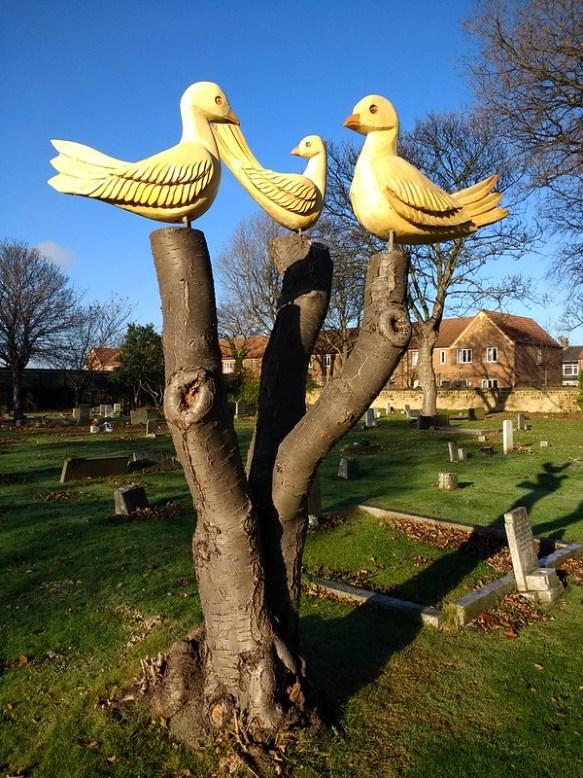 Redcar Cemetery Doves