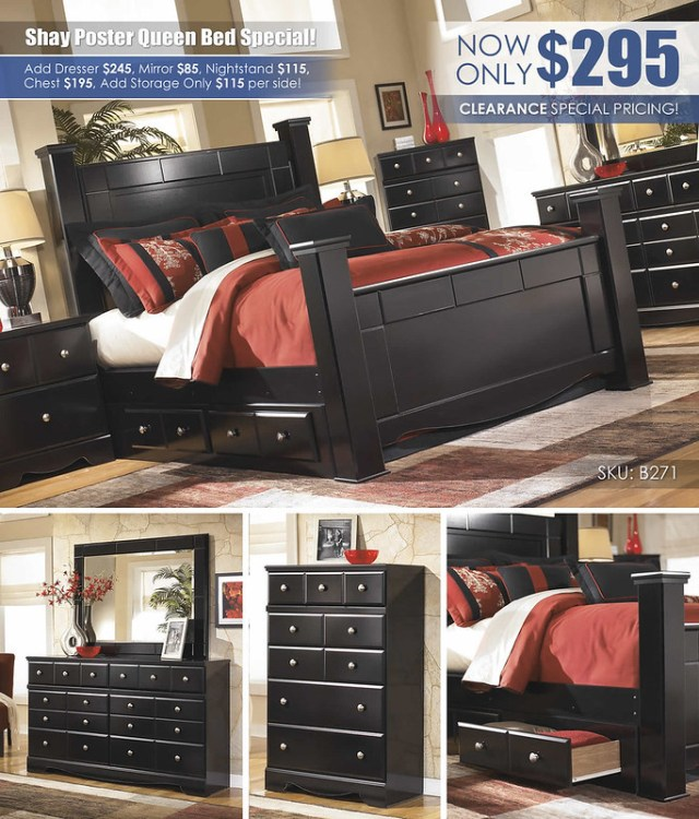 Shay Poster Bed Clearance Special_B271