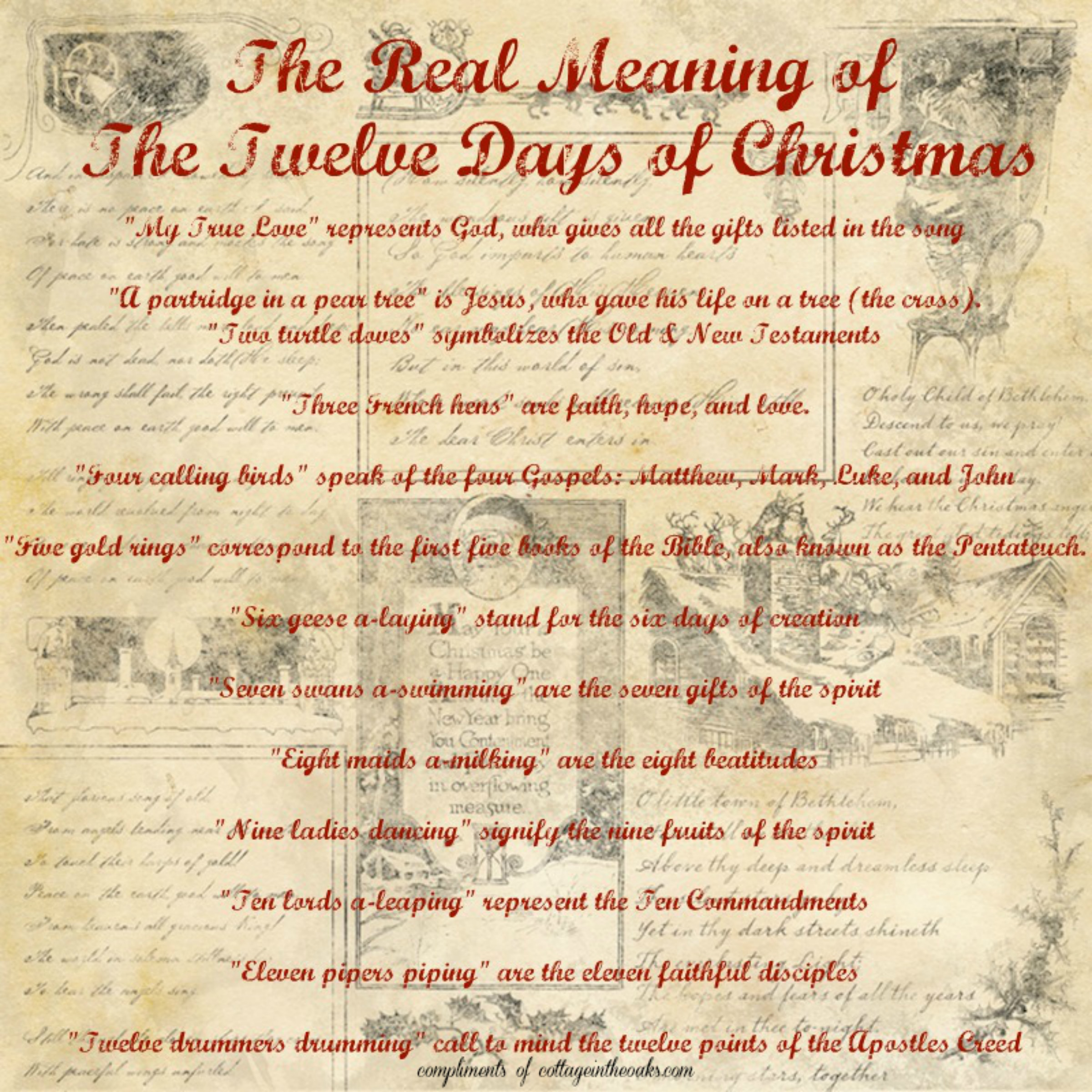 A Month Of Christmas The Twelve Days Of Christmas A