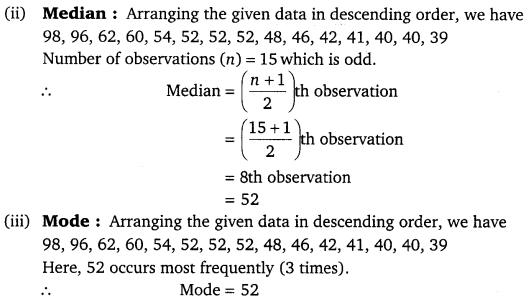 NCERT Solutions for Class 9 Maths Chapter 14 statistics 15