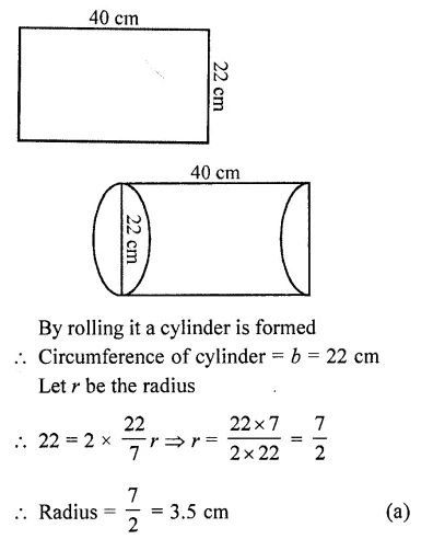 RD Sharma Class 10 Solutions Chapter 14 Surface Areas and Volumes MCQS 43