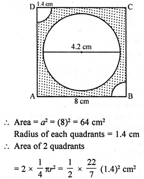 RD Sharma Class 10 Solutions Chapter 13 Areas Related to Circles Ex 13.4 - 14a