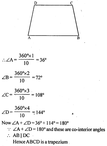 ML Aggarwal Class 9 Solutions for ICSE Maths Chapter 13 Rectilinear Figures  ex 2a