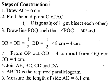 ML Aggarwal Class 9 Solutions for ICSE Maths Chapter 13 Rectilinear Figures  ex 2  11a