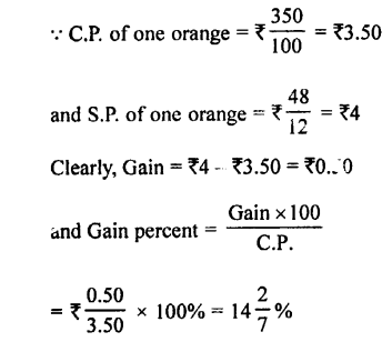 Selina Concise Mathematics class 7 ICSE Solutions - Profit, Loss and Discount-b15