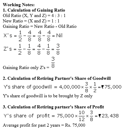 TS Grewal Accountancy Class 12 Solutions Chapter 5 Retirement Death of a Partner Q65.1