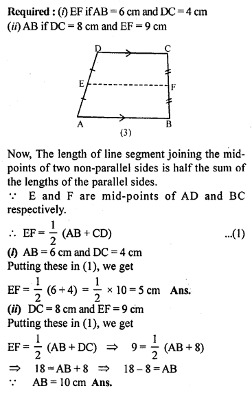 ML Aggarwal Class 9 Solutions for ICSE Maths Chapter 11 Mid Point Theorem    10d