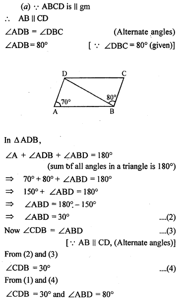 ML Aggarwal Class 9 Solutions for ICSE Maths Chapter 13 Rectilinear Figures  ex 4a
